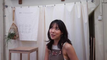 白橡凳子Kobeomsuk furniture - White oak wood stool one day class with 김장미