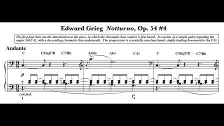 【樂理課堂】分析:DBTm.mth12 - Notturno (Grieg Op.54 #4) Harmonic Analysis