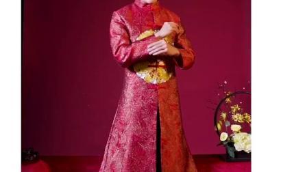 君晓天云秀禾服新郎2019新款男士中式结婚礼服古装婚服龙凤挂唐装男秀禾秋