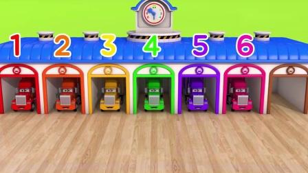 汽车启蒙益智玩具,教会宝宝英语学数字和颜色,动画早教