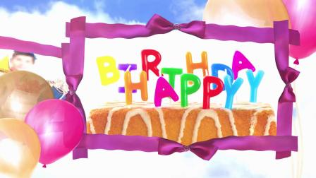 ae片头 pr模板 362精美漂浮在空中的气球生日快乐祝福视频ae模板 会声会影模板 PPT模板