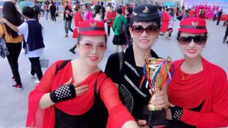 美丽辽源--(续集)东方广场天姿水兵舞蹈队参加《万安杯》决赛留念