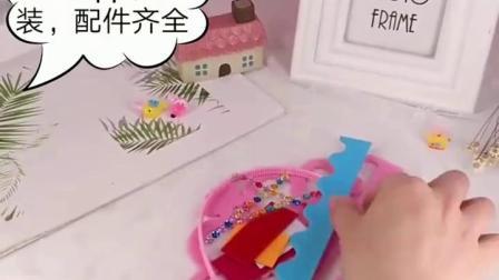 君晓天云幼儿diy不织布生日帽子皇冠头饰 儿童手工製作材料包diy创意礼物