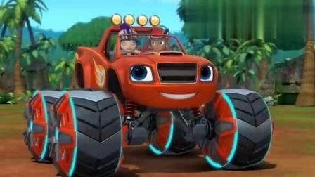 柯莱瑟用机器人制造大蛋糕阻止飚速,不料飚速把轮胎变大瞬间胡姐