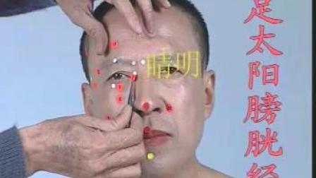 人体经络足太阳膀胱经穴位真人取讲解