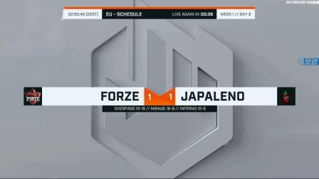 ForZe vs Japaleno ECS S8 第一周 BO3 第三场 9.18