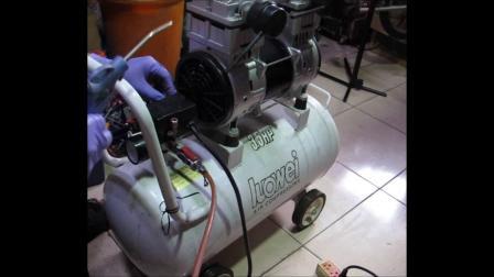 羅威牌 LUOWEI 3.5HP 50公升 無油式 空壓機 電磁閥更換 初學者篇 影片過程 Part 1。