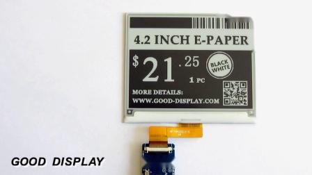 4.2寸四灰阶电子纸视频刷新演示