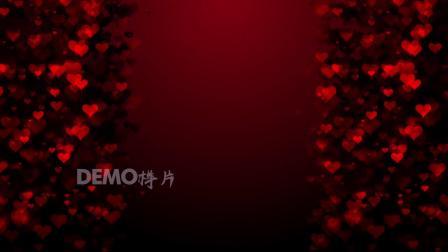 f663 唯美浪漫红色爱心心型粒子上升婚礼结婚大屏幕舞台LED背景视频素材