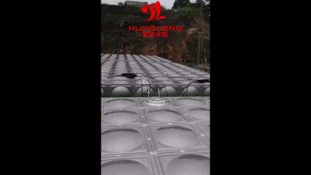 宏量水箱1600吨消防水箱_保温水箱_越南安装