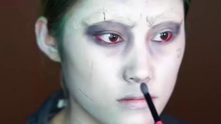 自杀小组小丑-自杀小组灵感化妆品:L-io。