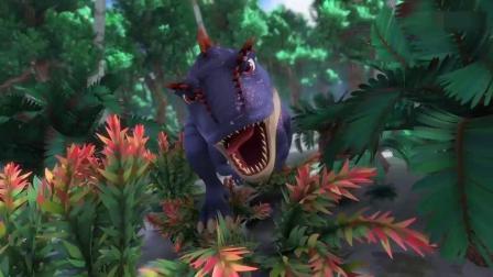 猪猪侠:阿五想把恐龙引到盐湖里,他觉得可以在那里摆脱恐龙!