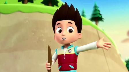 汪汪队:莱德听到了加比的声音,他发现加比的角被树枝缠住了!