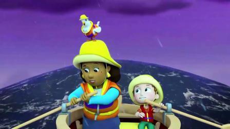汪汪队:市长要跟亚力一起划船,结果船桨掉了,被华丽捡到了!