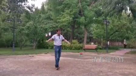 南苑公園Andy 空竹表演《撒网捕魚 摘桃》
