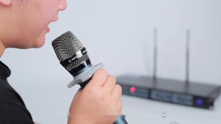 无线麦克风一拖四u段远距离户外专业舞台演出婚庆唱戏唱歌ktv话筒 拼多多