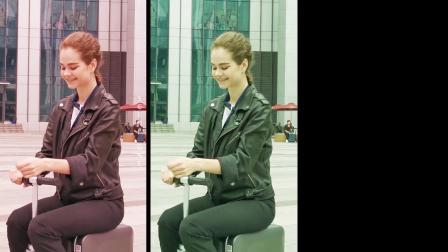 爱尔威airwheel se3 电动骑行行李箱,上海展外国小姐姐试骑展示