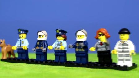 乐高警察警车警察局和儿童玩具车&德国
