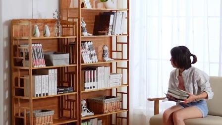 君晓天云书架置物架落地儿童简易书柜子桌上学生小书架书桌面简约客厅实木