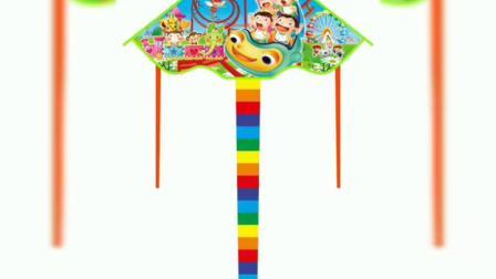 君晓天云买二送一儿童卡通风筝多长尾三角小猪佩奇旺旺队图案微风易飞包邮