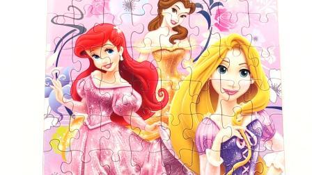 迪士尼公主长发公主美女林依晨迪斯尼益智游戏学习玩具为孩子