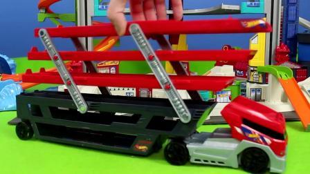 风火轮拆箱 - 终极车库玩具汽车闪电麦昆和火焰儿童