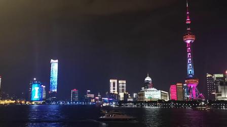 上海外滩流光溢彩,中秋赏月夜色撩人