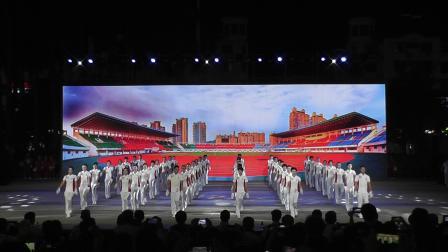 佳木斯健身操庆祝中华人民共和国成立70周年可爱祖国。