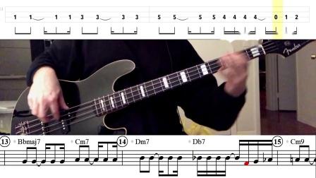 【電貝練習】轉錄:FsJr - Darling Dear (James Jamerson/Jackson 5) Bass Line