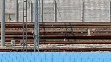 (柳州市上游路)K162次列车 南宁——徐州(DF4D0340) 会车 K1557次列车 上海——南宁