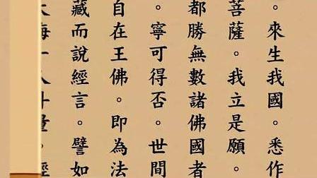 《无量寿经》繁体(悟行法师60分钟版)