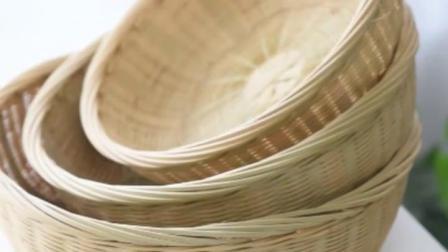 君晓天云手艺创艺手工竹编收纳篮茶叶罐茶盒茶礼品包装盒竹篓围棋盒茶篓