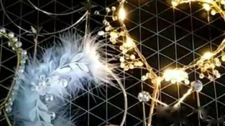 君晓天云母亲节520情人节蛋糕装饰水晶珍珠蕾丝爱心环仙女棒 羽毛铁环插牌