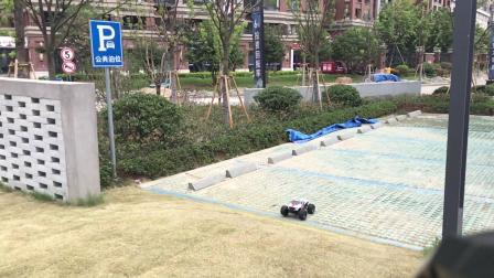 飞神 2019 1/10新大脚 野跑 飞坡 测试 fs racing 遥控模型 rc 大脚车
