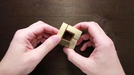 Solving golden ISO CRATE cube.