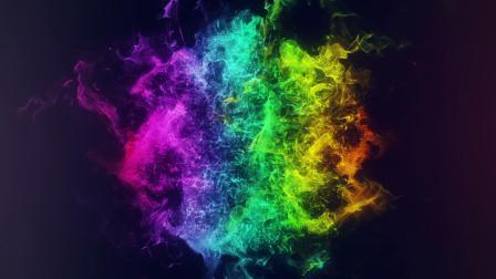 082震撼星光粒子斑斓璀璨星空宇宙logo标志演绎片头动画AE模板