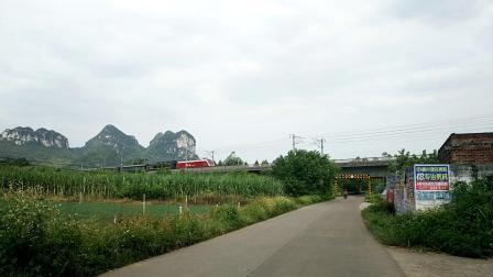 9.21柳南客专HXD1D牵引T25快速通过