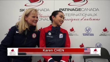 Karen CHEN USA Short Program Autumn Classic International 2019