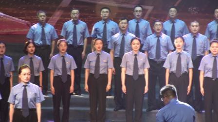 玉海摄:合唱《天耀中华》指挥:刘海涛.槐荫区人民院