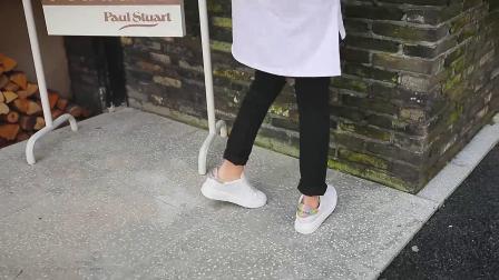 君晓天云戈美其2019春款女鞋新品潮流厚底板鞋女韩版百搭休闲个性小白鞋