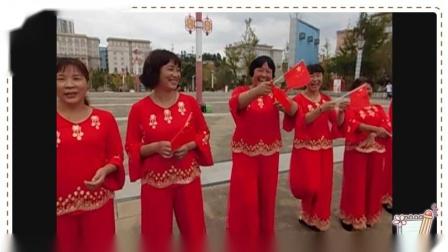 龙凤社区舞蹈队参加全县庆祝建国70   周年活动