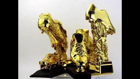 君晓天云2018足球纪念品世界盃金靴奖杯射手奖足球金鞋奖球迷用品摆件模型