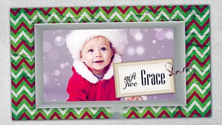 FCPX模板插件-圣诞节礼物盒照片定格动画片头 5 Christmas Gifts