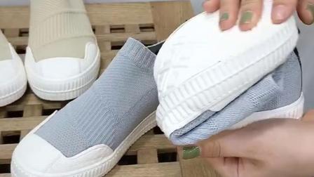 君晓天云小白鞋女2019夏款袜子鞋夏季透气网红鞋子百搭潮鞋平底板鞋针织鞋