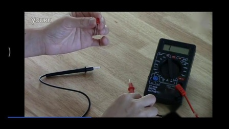 用万用表测量led的灯泡的方法