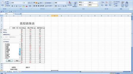 excel5-自动筛选实例-教程销售表和工资档案表——傲凯电脑培训