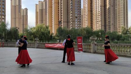 规范交谊舞慢三又见北风吹由太原兰亭西区舞蹈队表演