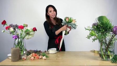 花束包装方法教程如何做一个混合花束3