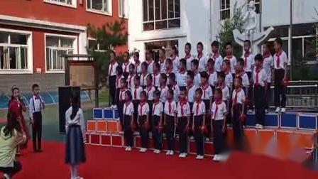 灵石县一小学祖国七十华诞歌咏比赛剪影