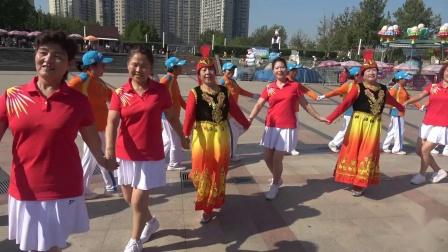 北京天通圓夢緣健身隊熱烈慶祝祖國成立70周年